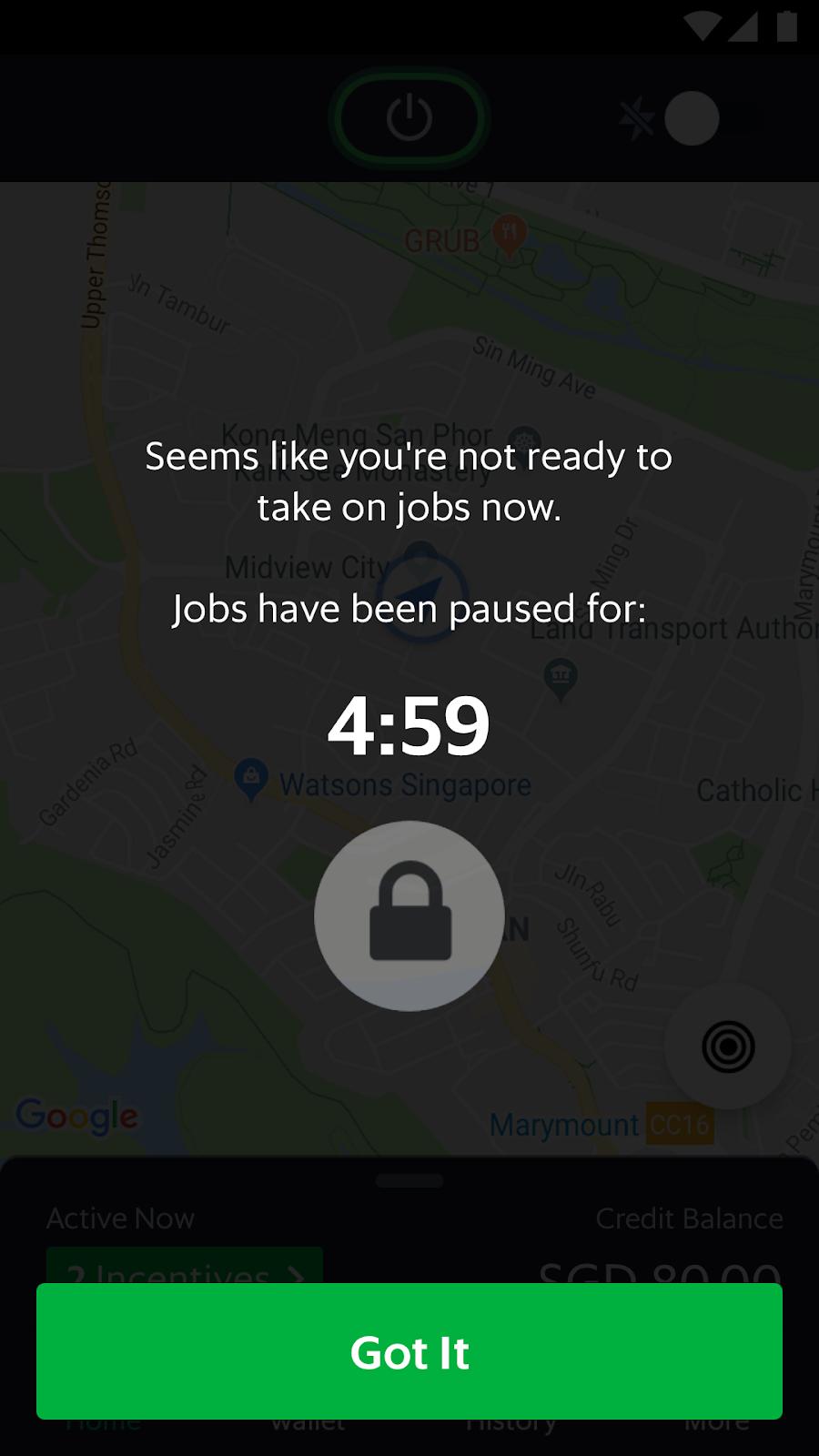Mengapa orderan saya dihentikan sementara - Driver