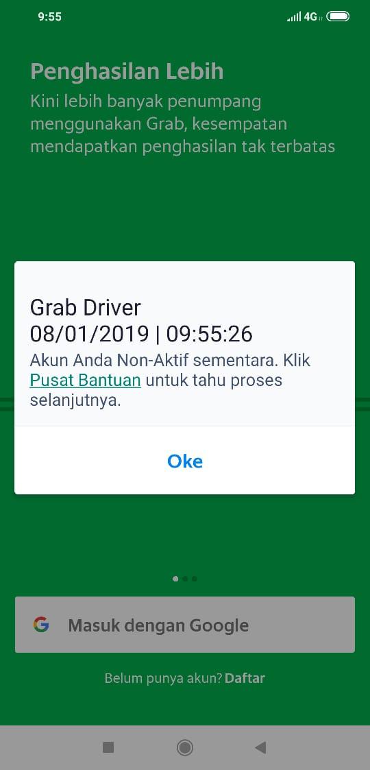 Non aktif sementara - Driver